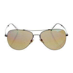Gucci Aviators Mirrored Black Metal